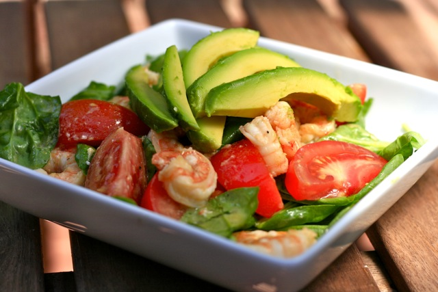 shrimp walnut salad