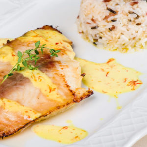 Grilled Halibut With Lemon-Herb Splash