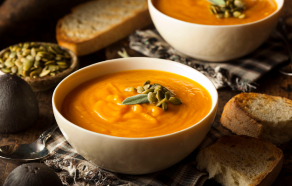 Carrot Ginger Butternut Squash Soup