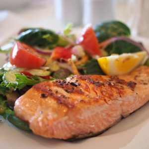 Lemon Garlic Wild Salmon With Broccoli