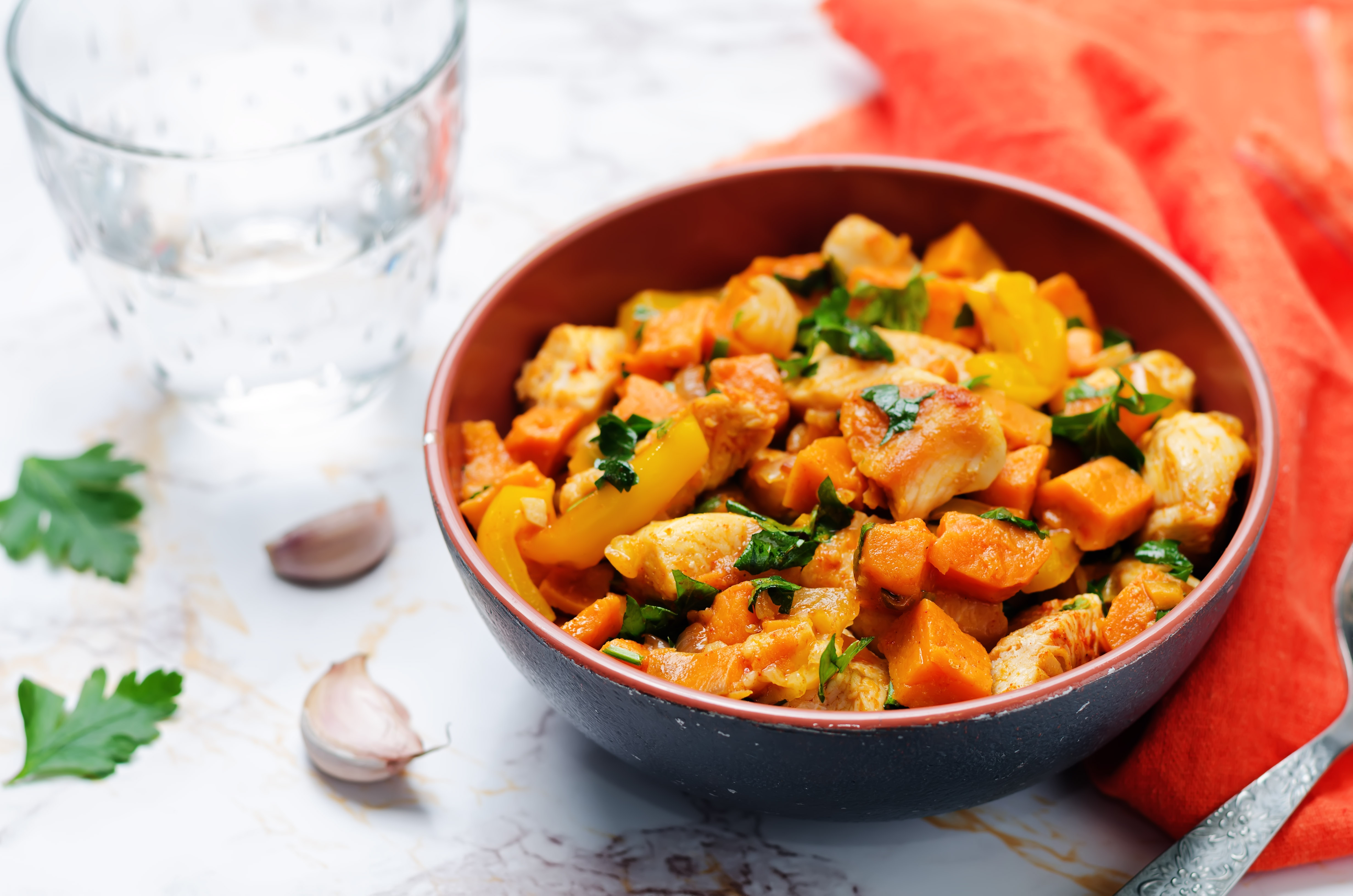 Sweet potato chicken skillet