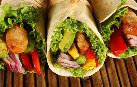 Chicken, Avocado and Goat Cheese Wrap
