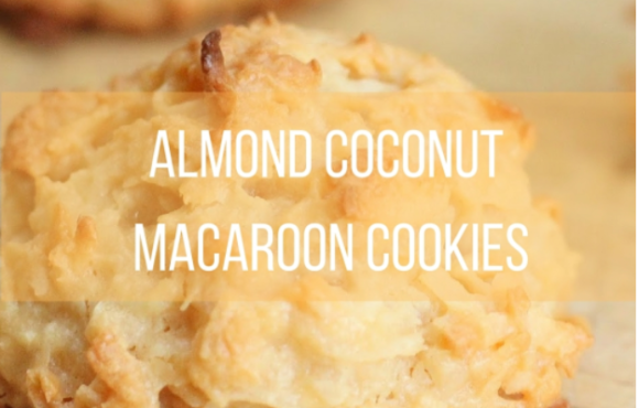 Almond Coconut Macaroon Cookies